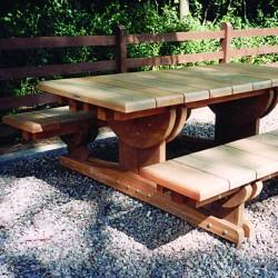 UK Designed and Manufactured Street Furniture and External Structures - Hardwood Picnic Set