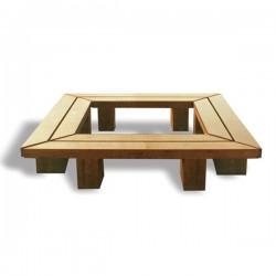 Tree Seat, Square Tree Seat, Timber Tree Seat, Wooden Tree Seat, Hardwood Tree Seat, Woodscape, Street Furniture