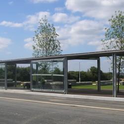 Woodscape, Bristol Science Park, Jetty, Bus Shelter, Hardwood, Camlins, Kier, Street Furniture, Bespoke