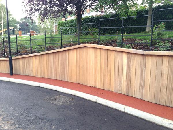 Product Showcase Hardwood Retaining Wall System Woodscape
